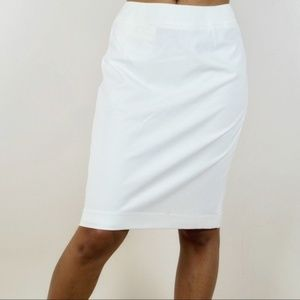 Calvin Klein Classic Cream Pencil Skirt NWT